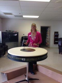 remo 40 inch drum table me cox