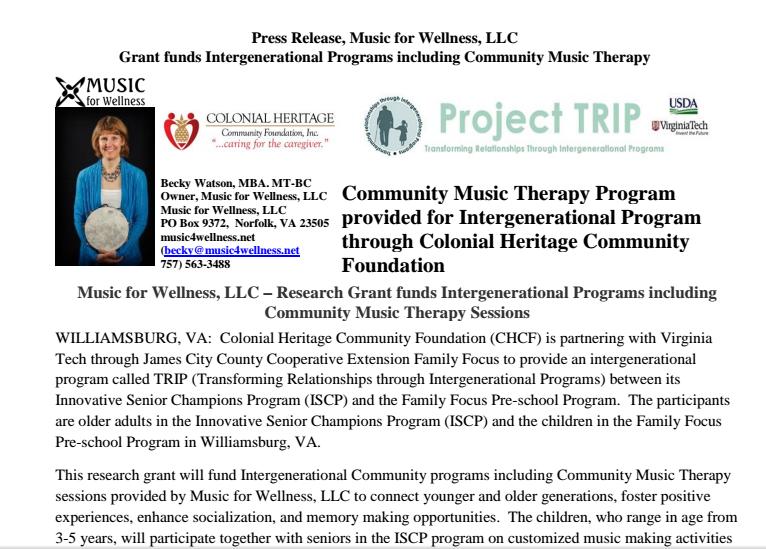 thumbnail becky watson music therapy intergeneration prorgram